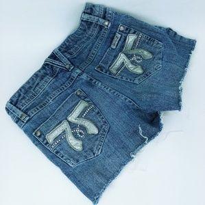 Seven cutoff denim shorts